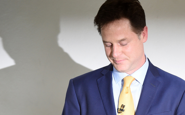 "Nick Clegg described the results of the election has a ""crushing blow"" to the Liberal Democrats."