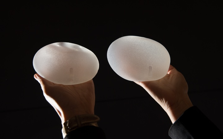 Anatomical breast implants.