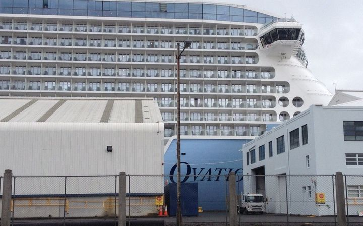 The cruise ship Ovation of the Seas in Wellington on Friday 23 December.