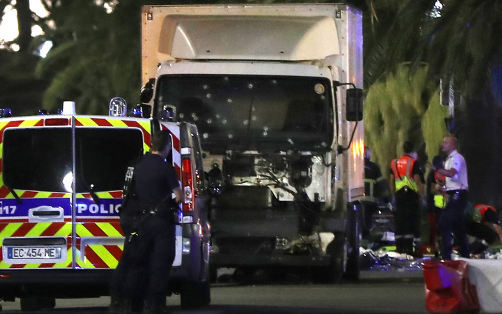 The truck ploughed into a crowd watching a Bastille Day fireworks display in the southern French resort of Nice, early on July 15.