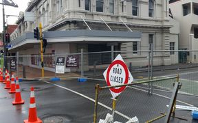 The cordon in central Wellington.