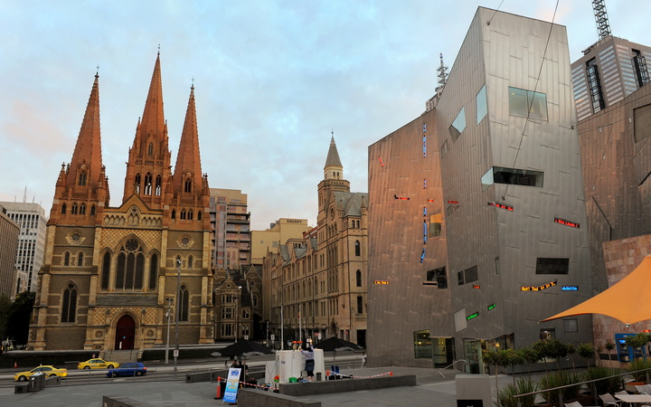 St Paul's Cathedral and Federation Square in Melbourne. The alleged plot targeted central Melbourne sites.