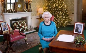 Queen Elizabeth delivers her Christmas message.