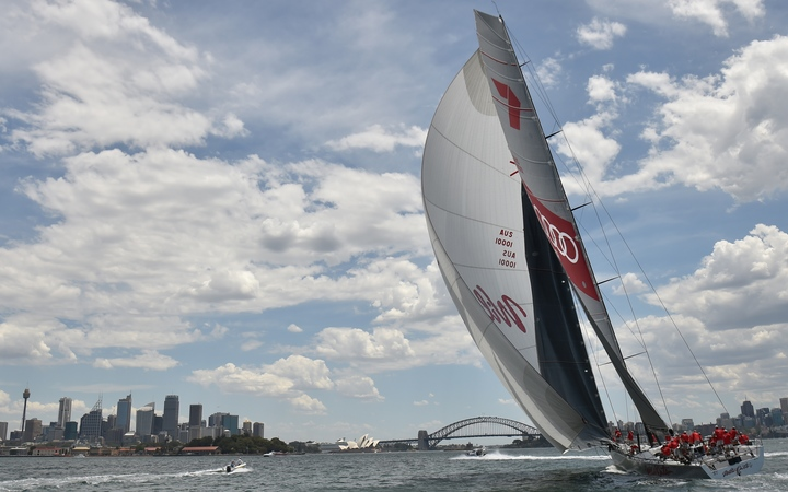 Sydney to Hobart favourite Wild Oats XI on Sydney Harbour.