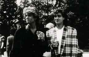 The other half of Wham, Andrew Ridgeley (right),was among those to pay tribute to George Michael.