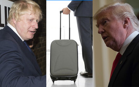 Boris Johnson, suitcase, Donald Trump