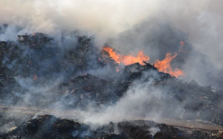 Fire at Tapuhia landfill in Tonga