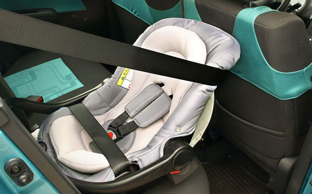 Plunket recommends that children under two be seated in a rear-facing car seat.