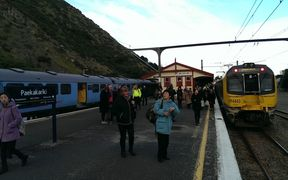 Services on a section of the Kapiti line in Wellington's were cancelled Thursday morning.