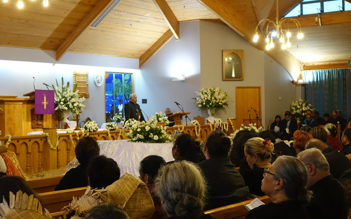 Sione Taumololo and Talita Fifita, who died in a bus crash near Gisborne on Christmas Eve, are remembered at a service at Grey Lynn's Tongan Methodist Church.