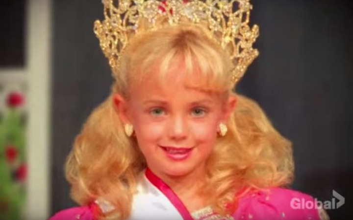 A screengrab of Jon Benet Ramsey from the CBS TV series The Case of Jon Benet Ramsey