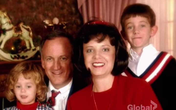 From left Jon Benet Ramsey her father John her mother Patsy and her brother Burke