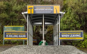 Cleaning Station for Kauri Dieback Disease