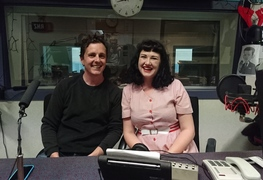 Sing Sing Sing's Reuben Bradley and Lauren Armstrong at RNZ Wellington.