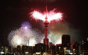 Auckland Sky Tower New Year 2016