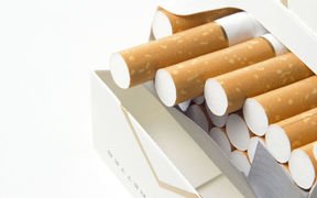 The cost of a packet of cigarettes is currently about $20.