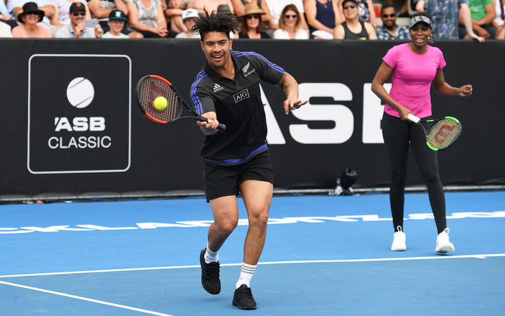 All Black Ardie Savea and Venus Williams played a charity match with their siblings to raise money for the Kaikōura earthquake fund in Auckland.