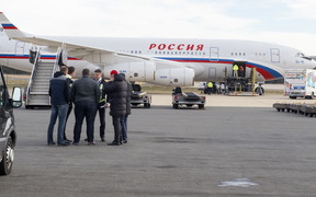 The diplomats left on a Russian aircraft on New Year's Day.