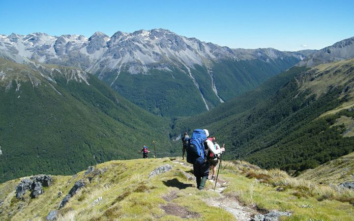 The Travers-Sabine track in the Nelson Lakes National Park.