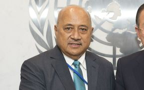 "Secretary-General Ban Ki-moon meets with Ratu Inoke Kubuabola, Fiji Minister for Foreign Affairs in New York at a Security Council meeting on ""Maintenance of international peace and security: Peace and security challenges facing small island developing States"". July 30 2015"