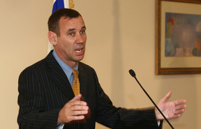 Mark Regev, pictured here in 2008, has said the comments did not reflect the embassy or the government's view.