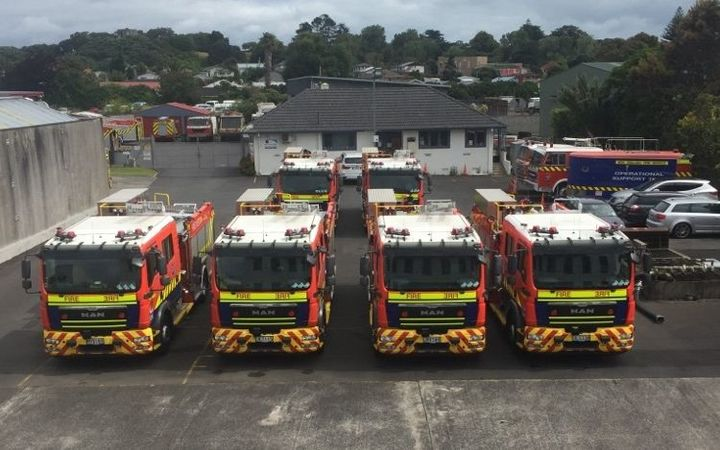 The Fire Service's workshop in Otahuhu