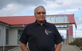 A portrait of Joe Harawira the Co-ordinator of Sawmill Workers Against Poisons - at the Ngati Awa Community Health Centre