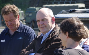 Steven Joyce in Kaikoura to speak to bigger business about government help.