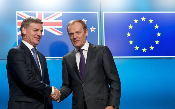 Bill English meets with Donald Tusk, President of the European Council.