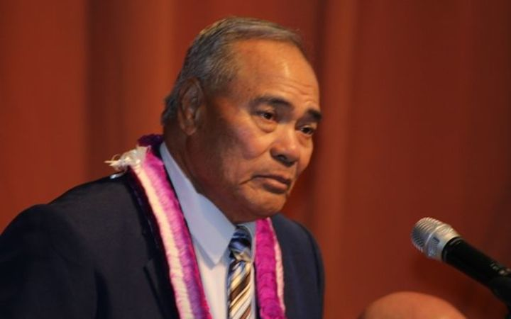 Lolo Matalasi Moliga at his State of the Territory address.