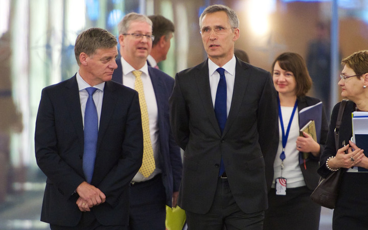 Prime Minister Bill English met with NATO Secretary General Jens Stoltenberg in Brussels.