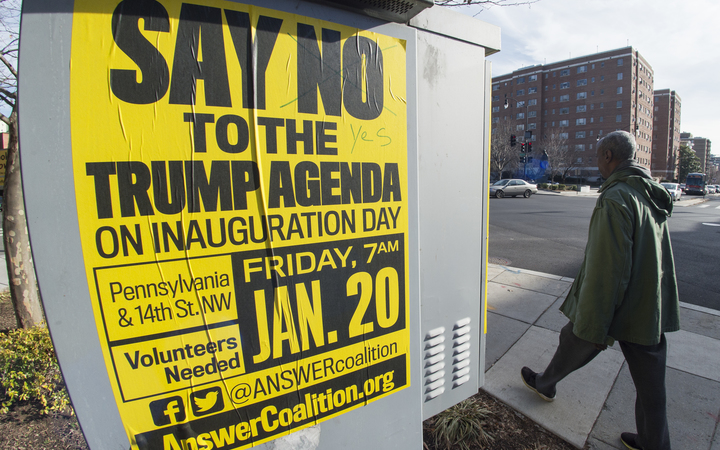 A week of protests has been organised in the run-up to Donald Trump's inauguration on 20 January.