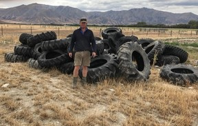 A farmer who had about $40,000 worth of irrigator tyres slashed thinks the act of vandalism is designed to send a message about irrigation in the Mackenzie Country.