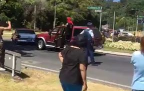 Police said a motorcade of more than 100 cars carrying Mongrel Mob members was travelling through Whakatane