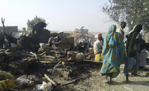An air force jet accidentally bombarded a camp for those displaced by Boko Haram, in Rann, northeast Nigeria.
