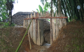 The spectre of tribal fighting is a constant in Papua New Guinea's Hela province where villages are typically protected by trenches and tightly guarded gates.