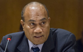 Taneti Maamau, President of Kiribati, speaks at the meeting with Pacific Island Forum Leaders, held on the sidelines of the seventy-first session of the General Assembly.