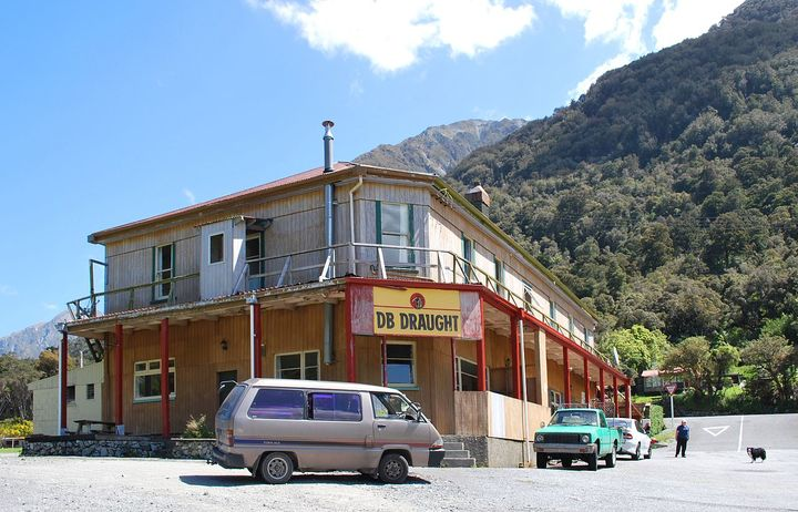 Otira Pub owner Gillian MacDougall says the pub is hemmed in on all sides by slips.