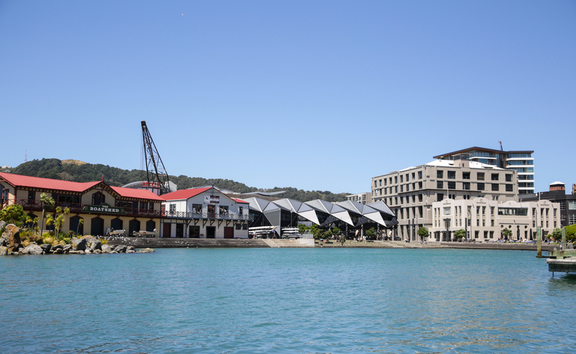 Wellington waterfront lagoon