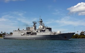 HMNZS Te Kaha arrives at Pearl Harbour for RIMPAC 2016