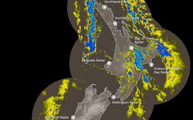 MetService's rain radar - at 6.30am Friday.
