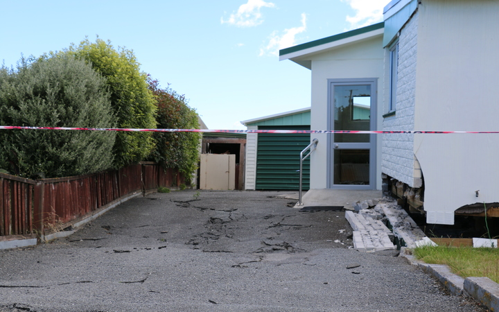 An earthquake damaged home near Lyell Creek, Kaikoura