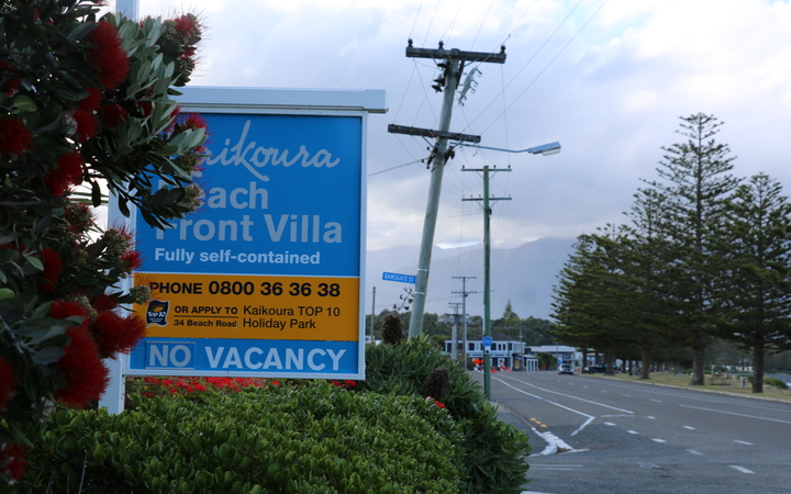 No vacancy signs have started to appear in Kaikoura, including at the Kaikoura Beach Front Villa.