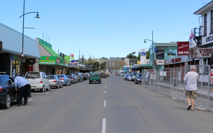 Kaikoura main street 19 January 2017.