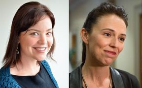 Julie-Anne Genter and Jacinda Ardern.