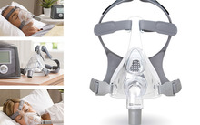 The F&P Simplus full face mask is used for the treatment of obstructive sleep apnea.
