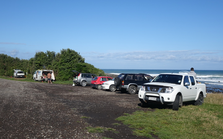 Paora Road is a popular destination for surfers and freedom campers.