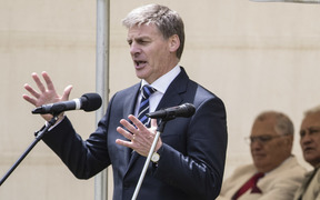 Bill English speaking at Ratana Pā.