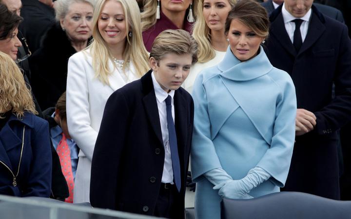 Tiffany Trump, Barron Trump, Vanessa Trump, Ivanka Trump and Melania ...