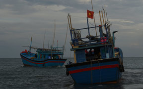 Vietnamese fishing boats.